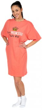 """I'm a Princess That's Why!"" Nightshirt in Pink"