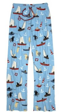 Little Blue House by Hatley Sailing Dogs Cotton Jersey Pajama Pant in Blue