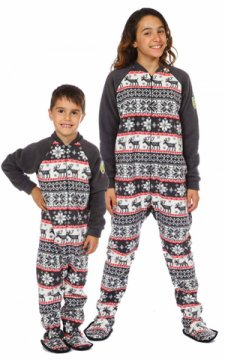 "Snug As A Bug ""Cozy Cottage"" Kids Fleece Footy"
