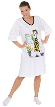 "Emerson Street ""Listen Honey-If Friends were Flowers...!"" Nightshirt in A Bag"