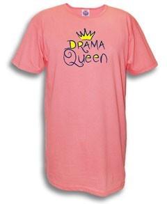 """Drama Queen"" Nightshirt in Pink"