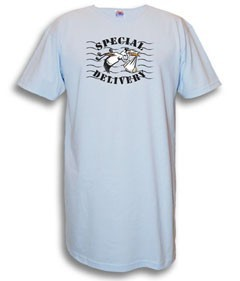 """Special Delivery"" Nightshirt in Blue"