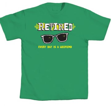 "LA Imprints ""Retired Weekend"" T-Shirt in Green"