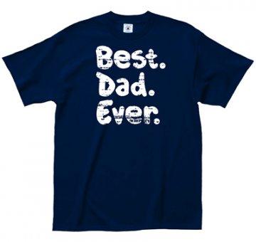 """LA Imprints """"Best Dad Ever"""" T-Shirt in Navy"""