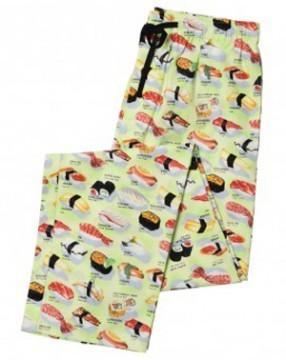 "The Cat's Pajamas Men's  ""Wasabi Sushi"" Flannel Pajama Pant in Green"