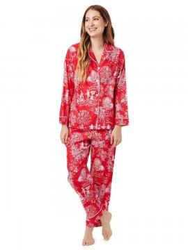 The Cat's Pajamas Women's A Rose, My Love? Luxe Pima Classic Pajama Set