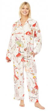 The Cat's Pajamas Women's Barcelona Classic Flannel Pajama Set