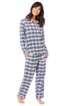 The Cat's Pajamas Women's Brooklawn Classic Flannel Pajama Set