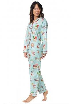 The Cat's Pajamas Women's Cafe Au Lait Classic Flannel Pajama Set