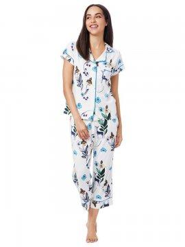 The Cat's Pajamas Women's Deerly Pima Knit Capri Pajama Set