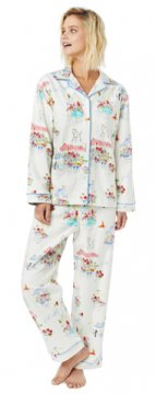 The Cat's Pajamas Women's Flower Cart Classic Flannel Pajama Set