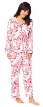 The Cat's Pajamas Women's Geisha Classic Flannel Pajama Set