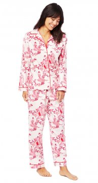 The Cat's Pajamas Women's Geisha Classic Flannel Pajama Set