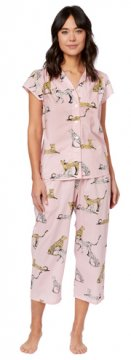 The Cat's Pajamas Women's Jaguar Luxe Pima Capri Pajama Set