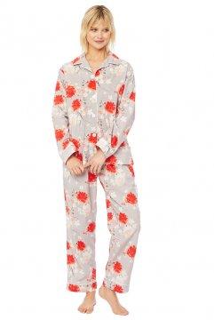 The Cat's Pajamas Women's Kiku Luxe Pima Classic Pajama Set