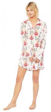 The Cat's Pajamas Women's La Fleur Eiffel Pima Knit Nightshirt