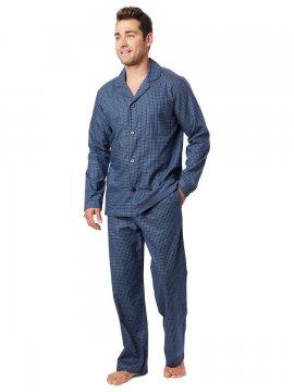 The Cat's Pajamas Men's Lisbon Pima Flannel Classic Pajama Set