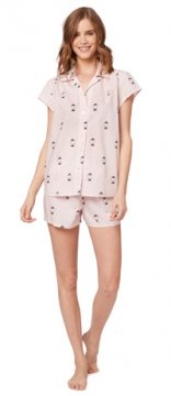 The Cat's Pajamas Women's Little Yogi Luxe Pima Short Set