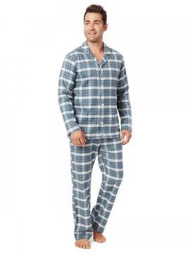 The Cat's Pajamas Men's Sun Valley Pima Flannel Classic Pajama Set