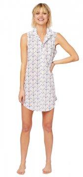The Cat's Pajamas Women's Anchors Away Luxe Pima Sleeveless Nightshirt