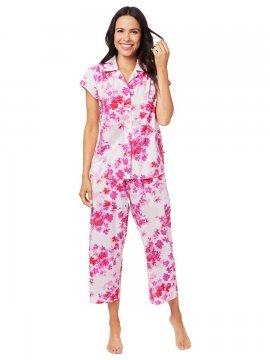 The Cat's Pajamas Women's Aster Luxe Pima Capri Pajama Set