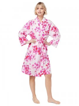 The Cat's Pajamas Women's Aster Luxe Pima Kimono Robe