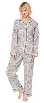 The Cat's Pajamas Women's Barrington Luxe Pima Cotton Classic Pajama Set