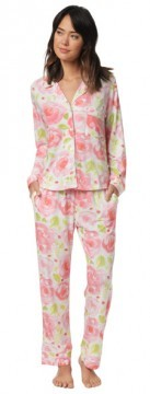 "The Cat's Pajamas Women's ""Bella Rosa"" Cotton Knit Classic Pajama Set"