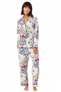 The Cat's Pajamas Women's Blossom Luxe Pima Classic Pajama Set