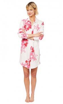 The Cat's Pajamas Women's Pink Bora Bora Pima Knit Classic Nightshirt