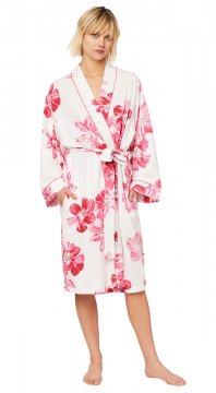 The Cat's Pajamas Women's Pink Bora Bora Pink Pima Knit Robe