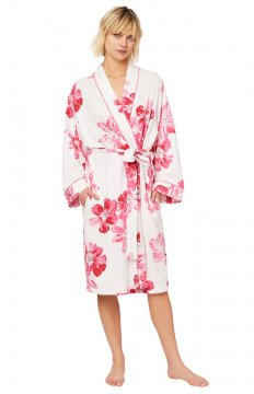The Cat's Pajamas Women's Pink Bora Bora Pink Pima Knit Robe