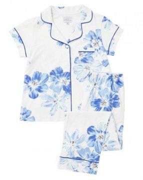 The Cat's Pajamas Women's Bora Bora Knit Short Sleeve Pajama Set