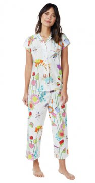 The Cat's Pajamas Women's A Bug's Life Poplin Capri Pajama Set
