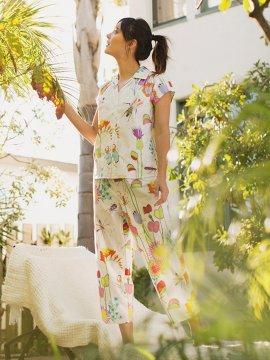 The Cat's Pajamas Women's A Bug's Life Poplin Capri Pajama Set