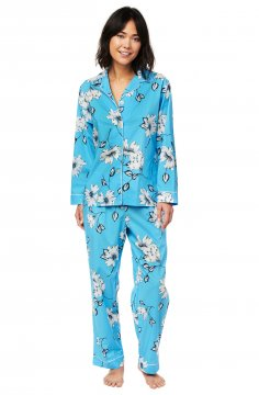 The Cat's Pajamas Women's Charlotte Luxe Pima Classic Pajama Set