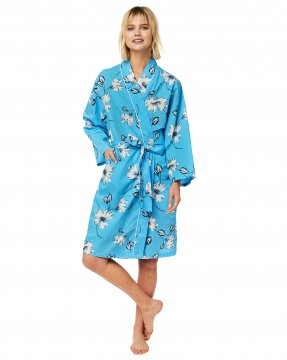 The Cat's Pajamas Women's Charlotte Luxe Pima Kimono Robe