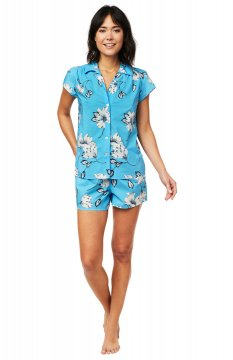 The Cat's Pajamas Women's Charlotte Luxe Pima Shorts Set