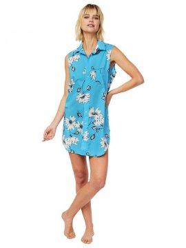 The Cat's Pajamas Women's Charlotte Luxe Pima Sleeveless Nightshirt