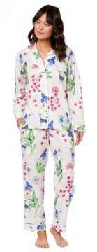The Cat's Pajamas Women's Deerly Luxe Pima Classic Pajama Set