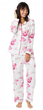 The Cat's Pajamas Women's Dragonfly Luxe Pima Cotton Pajama Set
