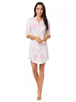 The Cat's Pajamas Women's Emma Rose Pima Knit Classic Nightshirt