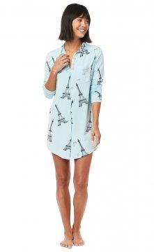 The Cat's Pajamas Etched Eiffel Pima Knit Nightshirt