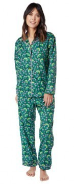 The Cat's Pajamas Women's Evergreen Voile Cotton Pajama Set