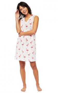 The Cat's Pajamas Women's Flamazing Pima Knit Nightgown