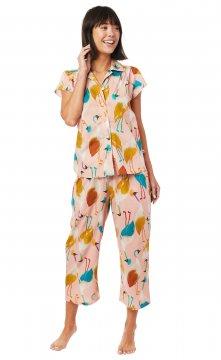 The Cat's Pajamas Women's Galapagos Luxe Pima Capri Pajama Set