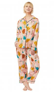 The Cat's Pajamas Women's Galapagos Luxe Pima Classic Pajama Set