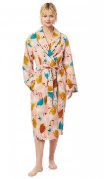 The Cat's Pajamas Women's Galapogos Luxe Pima Shawl Collar Robe