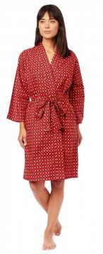 The Cat's Pajamas Women's Hadley Luxe Pima Cotton Kimono Robe