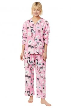 The Cat's Pajamas Women's Hepcat Classic Flannel Pajama Set